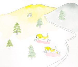 ワンコの森あそび体験会イラスト